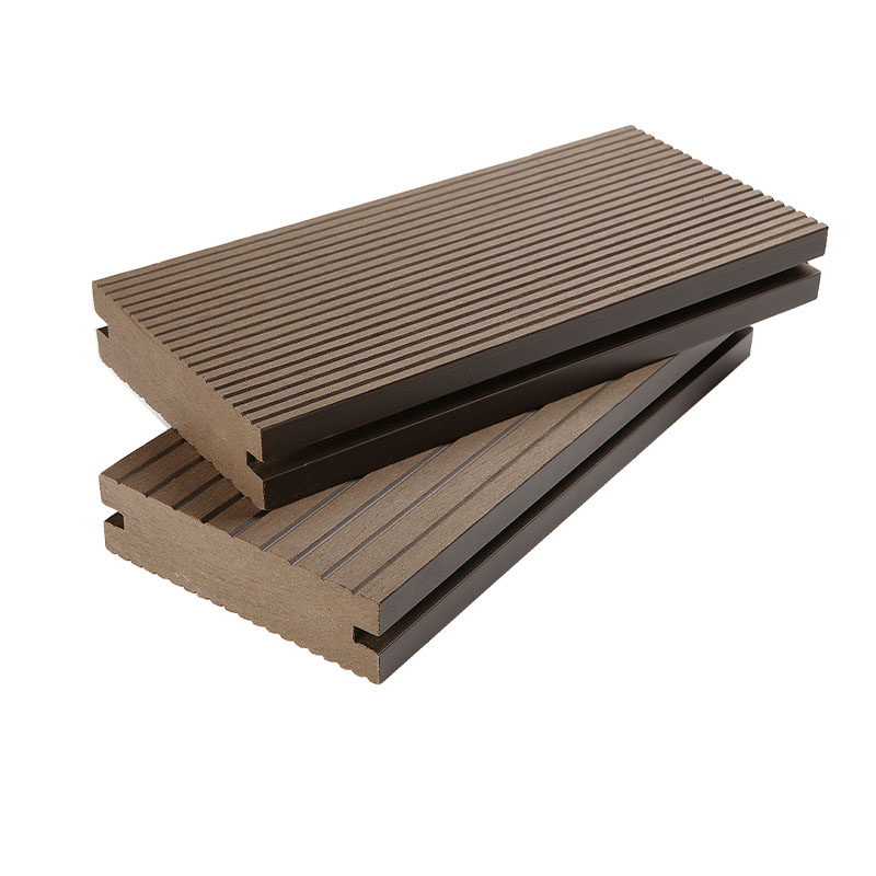 Solid WPC Outdoor Decking Flooring Easy Maintenance