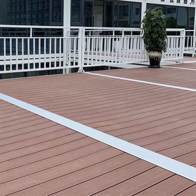 140x25mm Outdoor WPC Solid Decking Flooring