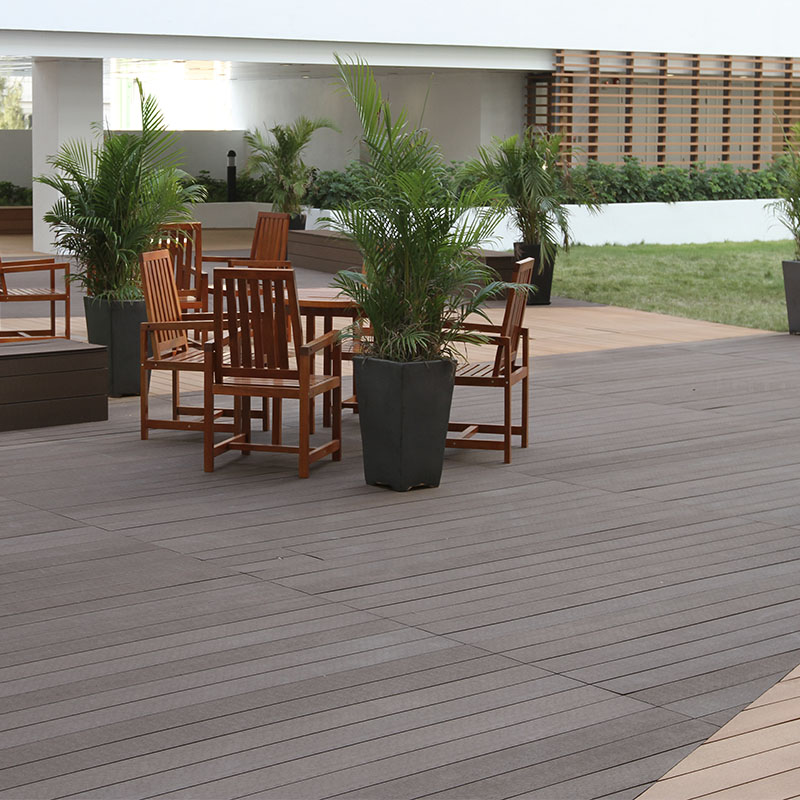 High Quality WPC Hollow Outdoor Decking