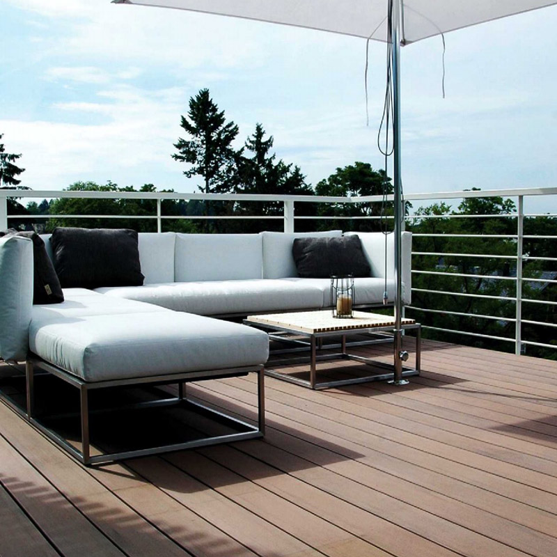 Hot Sale WPC Solid Exterior Decking