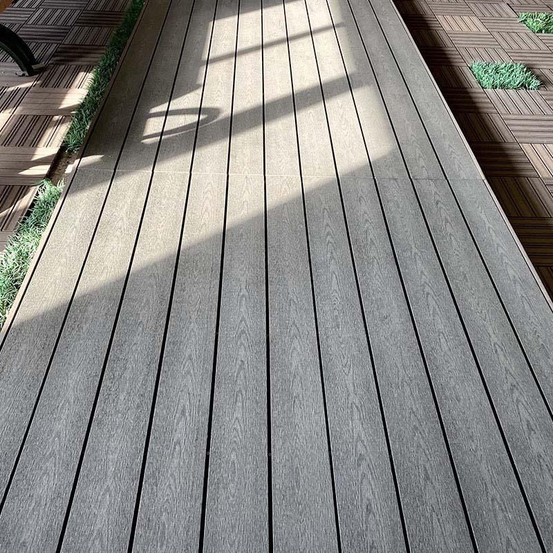 WPC Wood Grain Solid Outdoor Decking