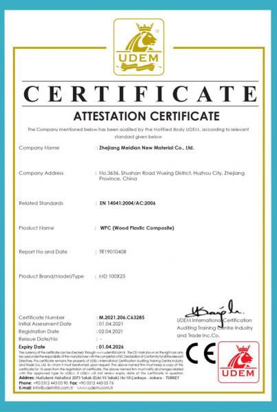 CE Certiificate