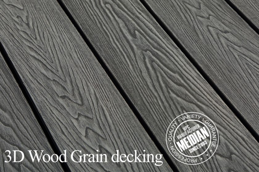 3D Embossed Decking, WPC Composite Decking