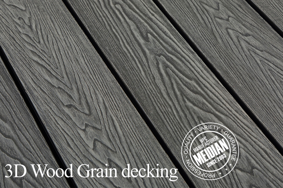 What is deep embossed composite decking?